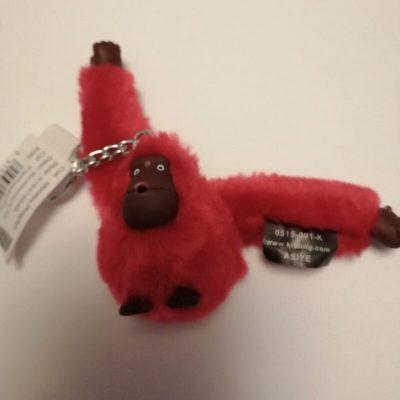 Kipling Asiye monkey in Flamboyant pink