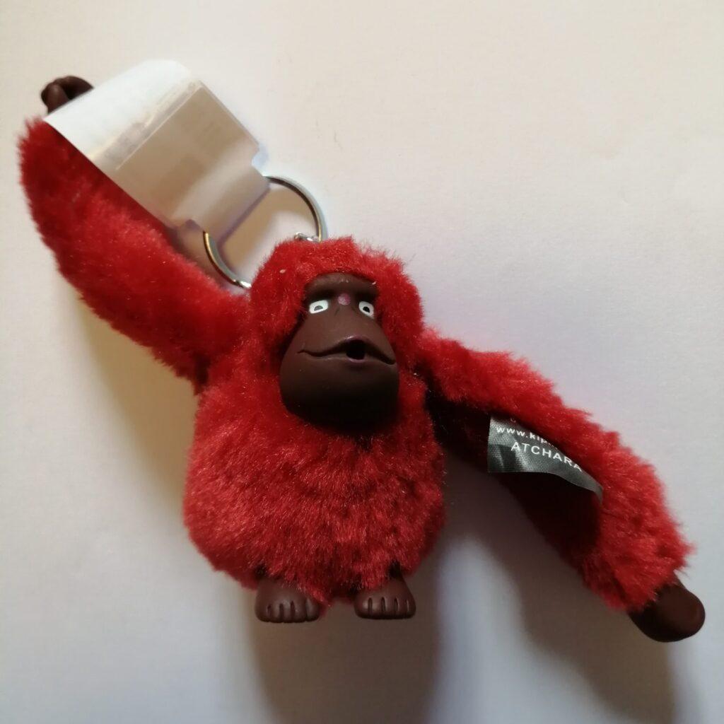 Kipling Atchara Large monkey in Red rust